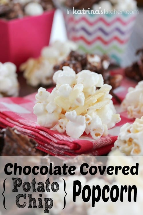 Chocolate Covered Potato Chip Popcorn Recipe
