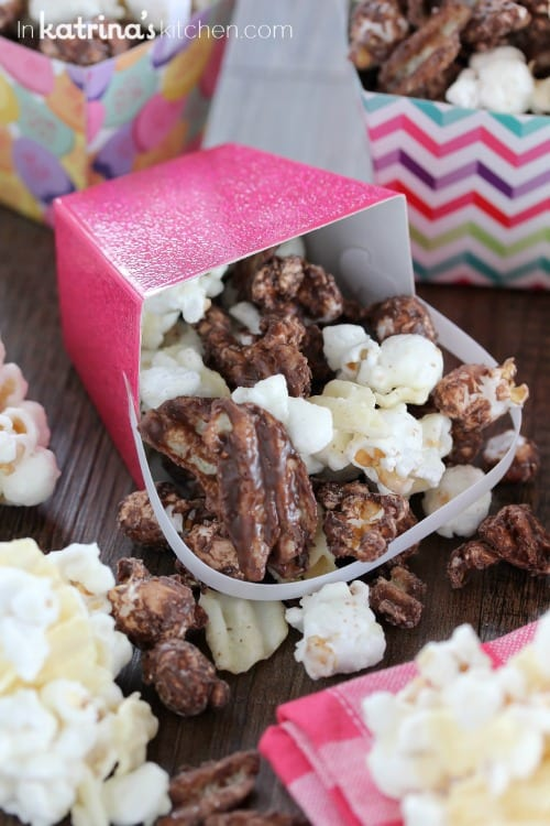 Chocolate Covered Potato Chip Popcorn Recipe- perfect for parties!