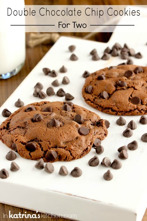 Double Chocolate Cookies for Two Recipe
