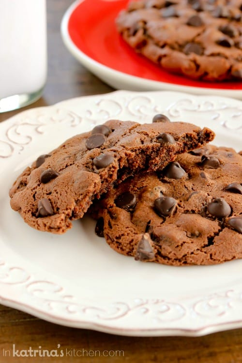 This cookie recipe makes 2 generously sized cookies or one GIANT cookie!