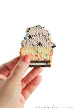 Homemade Funfetti Oreo Surprise Cupcakes