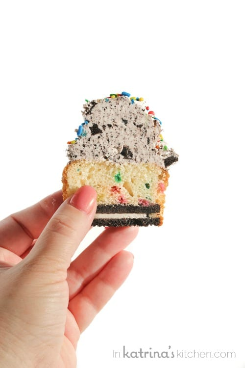 Homemade Funfetti Oreo Surprise Cupcakes Recipe...MUST MAKE!