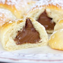 Creamy Chocolate Kiss Crescents Recipe
