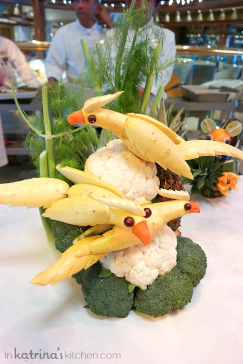 Don't Miss the Food Carving Demonstration Aboard the Regal Princess- birds