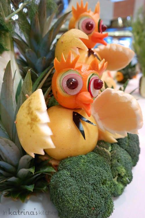 Don't Miss the Food Carving Demonstration Aboard the Regal Princess- tweet tweet