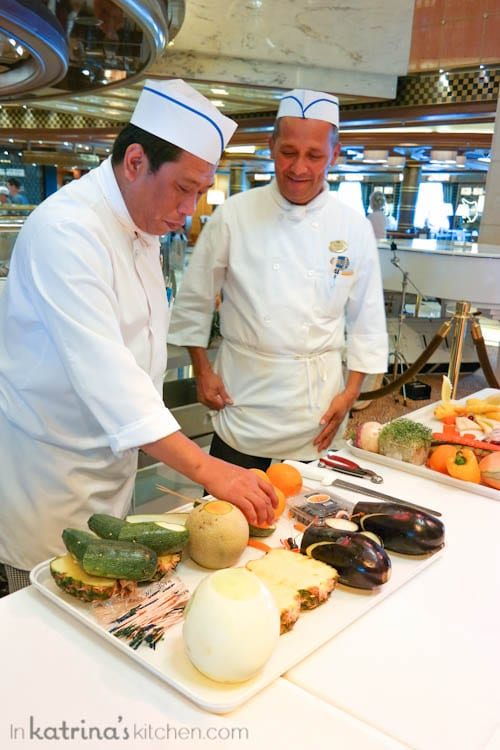 Don't Miss the Food Carving Demonstration Aboard the Regal Princess