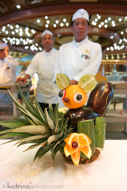Don't Miss the Food Carving Demonstration Aboard the Regal Princess- so cute!