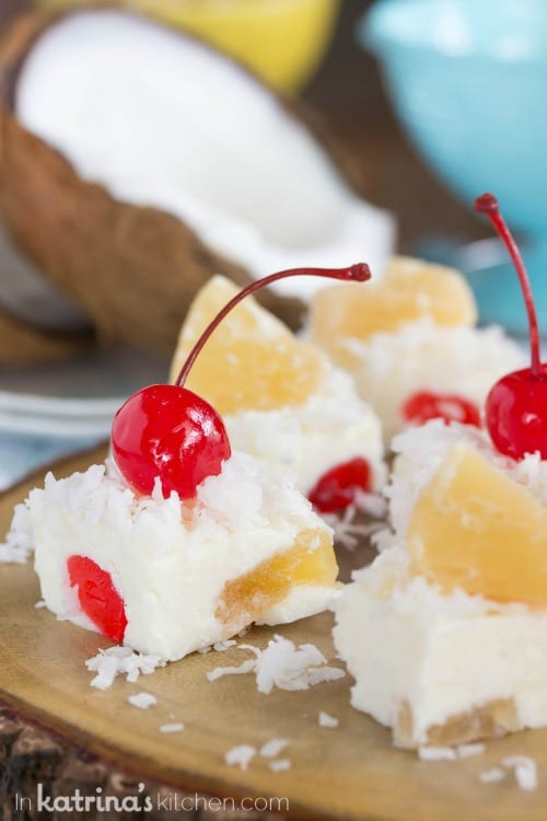 Perfect for parties! Pina Colada Fudge Recipe