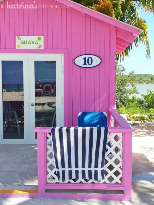 Private Pink Cabana on Princess Cays