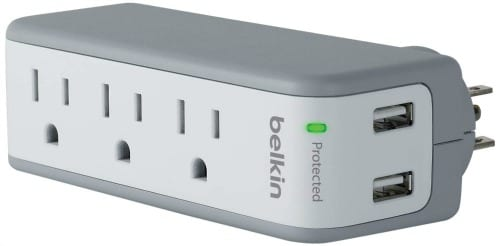 Uncommon Cruising Essentials- Plugs are limited in a cabin. Bring a small surge protector that doubles as a USB port for all of your charging needs.