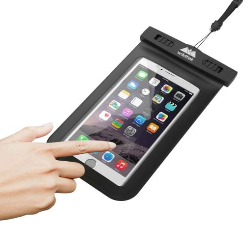 Uncommon Cruising Essentials- bring a waterproof cell phone case. Perfect for island excursions and poolside pics.