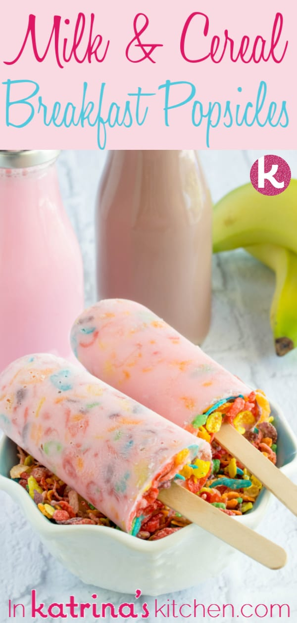 Milk and Cereal Breakfast Popsicle recipe