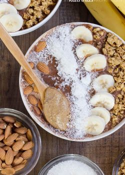 Chocolate Almond Butter Smoothie Bowls