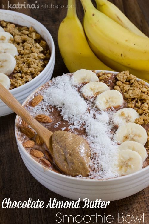 Chocolate Almond Butter Smoothie Bowl Recipe- Dairy Fuel for Back to School!
