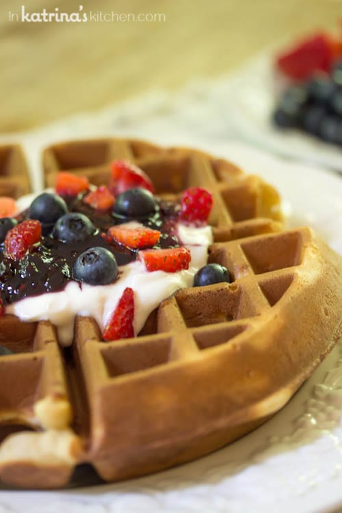 Fresh Berries and Cream Waffles // Sharing By The Shore- a Northern Michigan Blogger Retreat