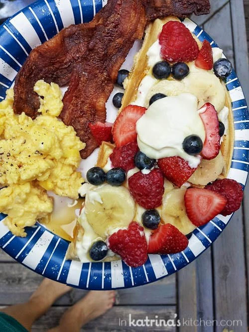 Breakfast at the cabin // Sharing By The Shore- a Northern Michigan Blogger Retreat
