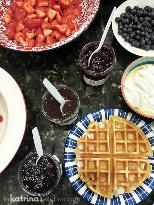Waffle Bar //Sharing By The Shore- a Northern Michigan Blogger Retreat