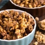 These Brown Sugar Candied Walnuts are perfect for topping sweets, salads, and more! EASY recipe!