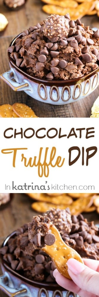 Chocolate Truffle Dip Recipe- easy and addicting!