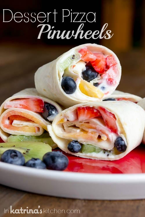 Dessert Pizza Pinwheels Recipe