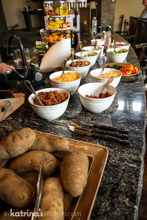 Loaded Baked Potato Bar is great for serving a crowd