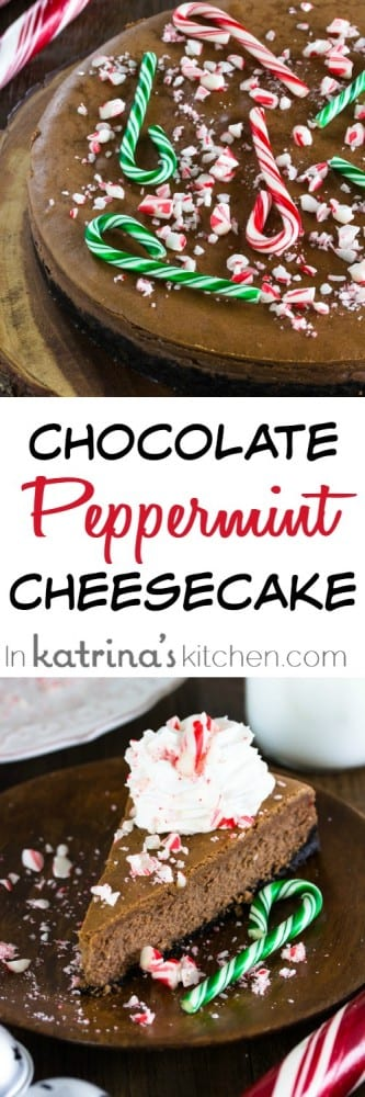 My favorite Classic Chocolate Peppermint Cheesecake Recipe