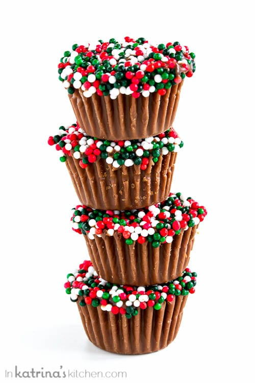 Festive Peanut Butter Cups- so EASY!