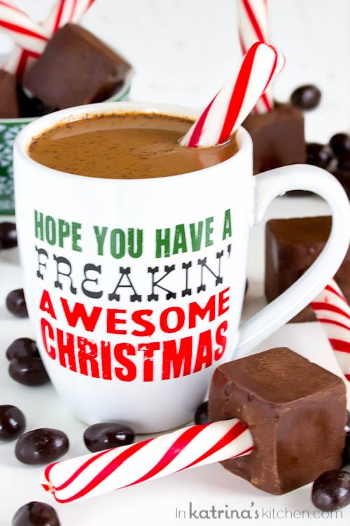 Peppermint Mocha Sticks Recipe for dunking into hot coffee- festive and easy entertaining and gift giving!