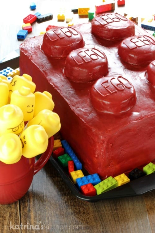 Lego Cake and Marshmallow Pops Recipe- I LOVE this idea!