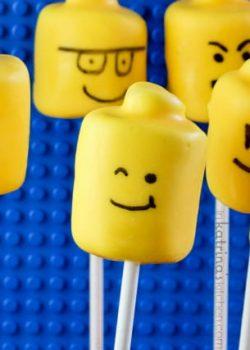 Marshmallow Lego Pops