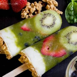 Perfect for Summer! Green Smoothie Parfait Popsicles Recipe