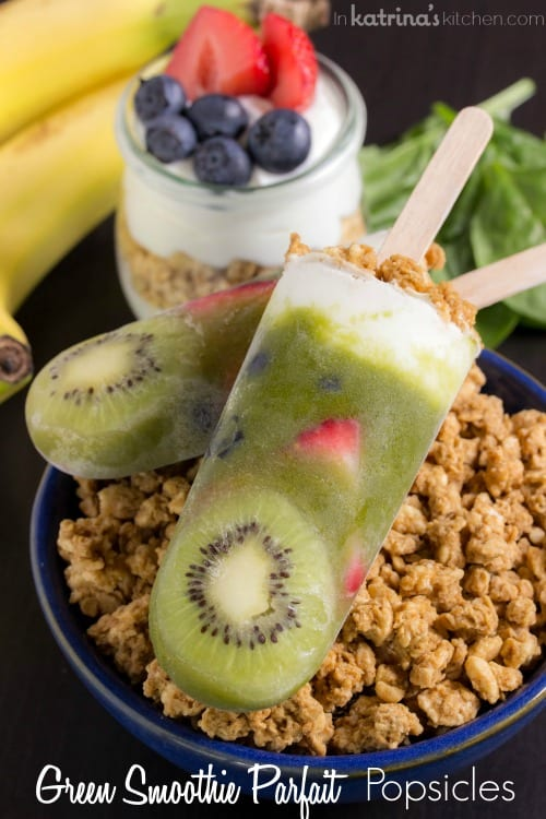 Green Smoothie Parfait Popsicles Recipe