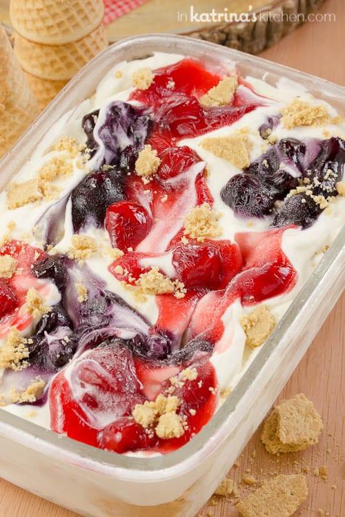 No machine required! Cheesecake Ice Cream Recipe