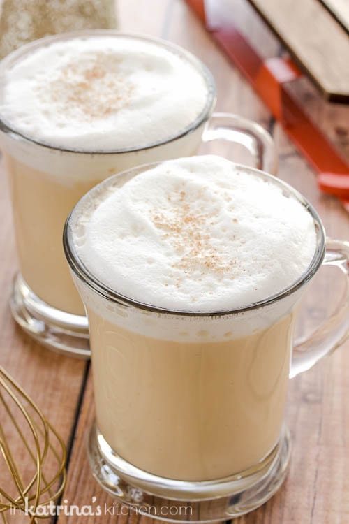 Eggnog Hot Chocolate Recipe- double the batch and make in the crockpot for parties!
