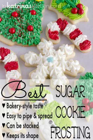 BEST Christmas Cookie Frosting