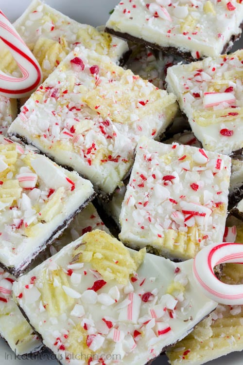 Perfect for gifts! Potato Chip Peppermint Bark Recipe