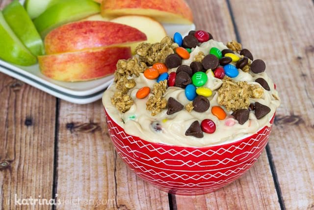 Greek Yogurt Monster Cookie Dough Dip Recipe