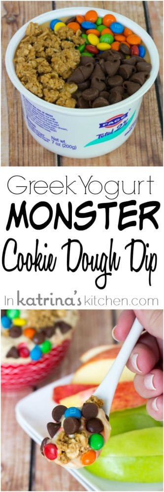 Greek Yogurt Monster Cookie Dough Dip Recipe