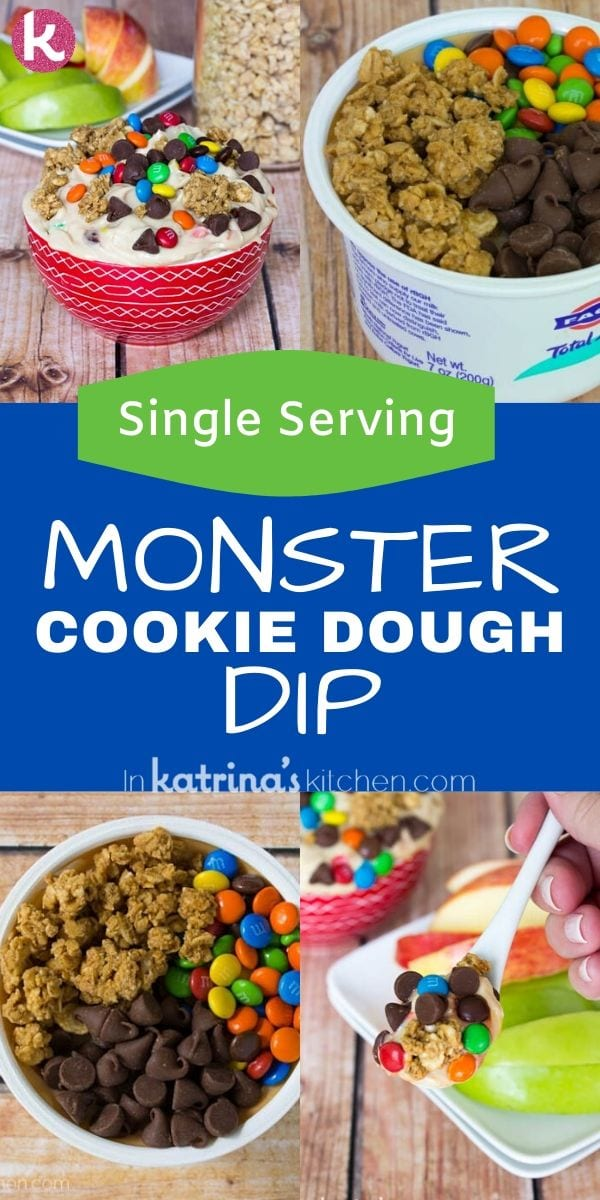 Monster Cookie Dough Dip Single Serving Recipe