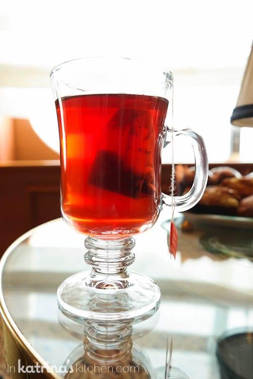 Hot tea- Eating Richly Aboard Princess Cruises