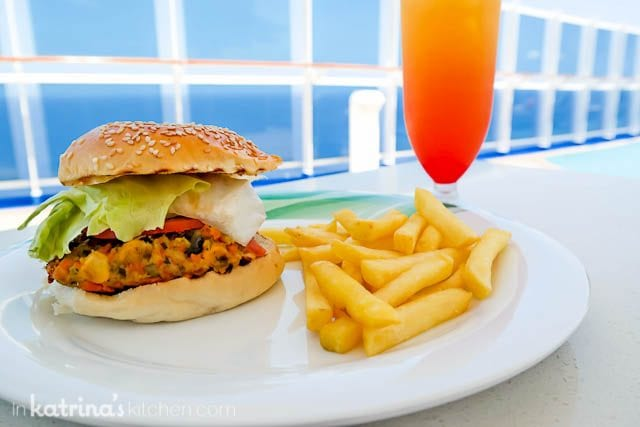 Veggie Burger- Eating Richly Aboard Princess Cruises