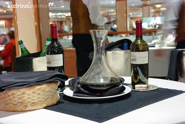 Wine service- Eating Richly Aboard Princess Cruises