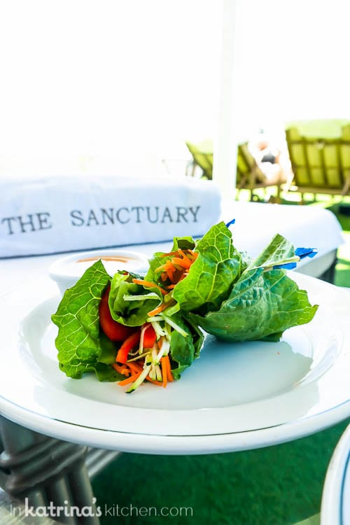 Lettuce Wraps in the Sanctuary- Eating Richly Aboard Princess Cruises