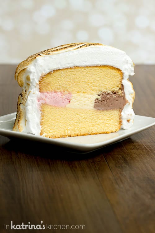 I want a slice! EASY Neapolitan Pound Cake Baked Alaska Recipe