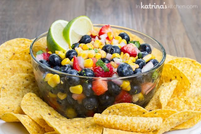 Sweet and fruity with just the right amount of heat, your're going to love switching things up with this show-stopping Blueberry Corn Salsa Recipe