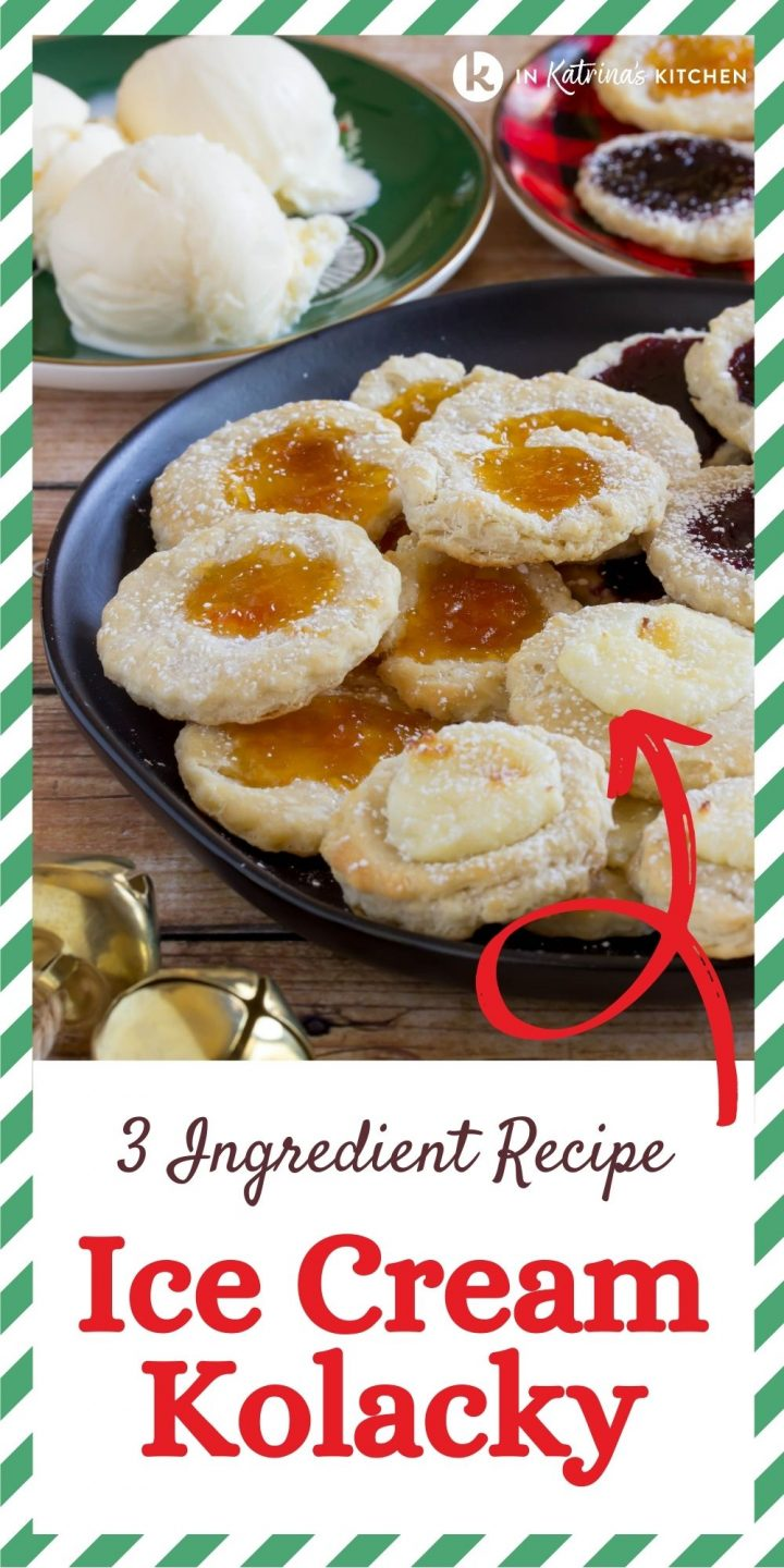 """cookies with jam and the text, 3 ingredient recipe ice cream kolacky"""""""