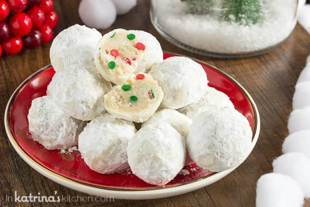 Sprinkle Snowball Cookies