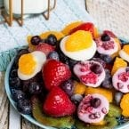 Simple Summer snack! Frozen Fruit and Yogurt Discs Recipe