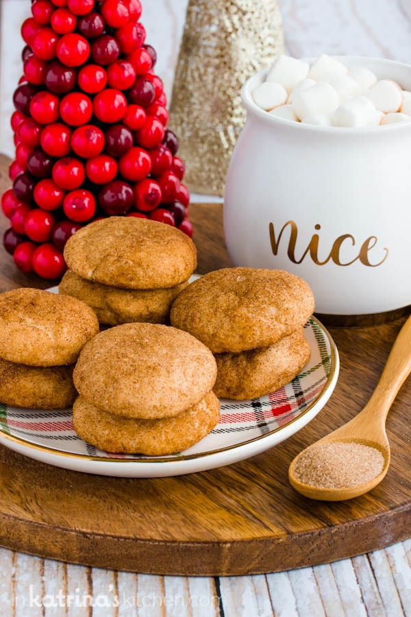Cream Cheese Snickerdoodles recipe for puffy cookies