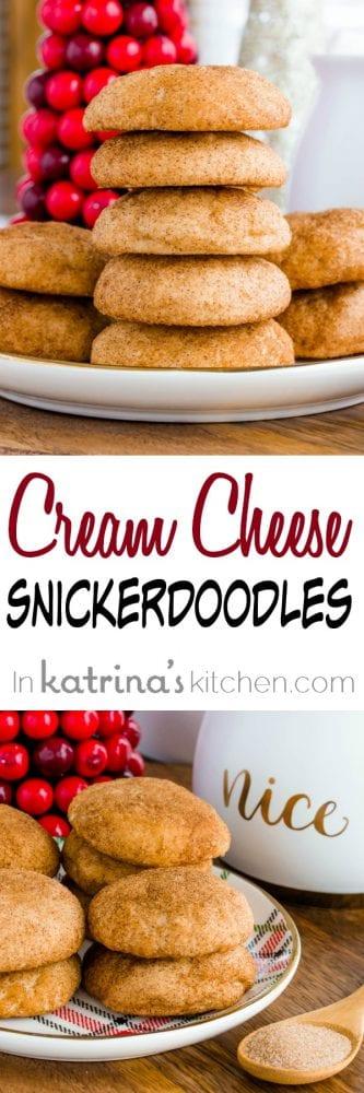 Cream Cheese Snickerdoodles recipe